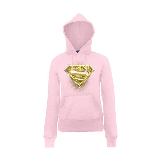 DC Comics Sudadera para niña, color rosa claro, talla 13 años: Amazon.es: Ropa y accesorios