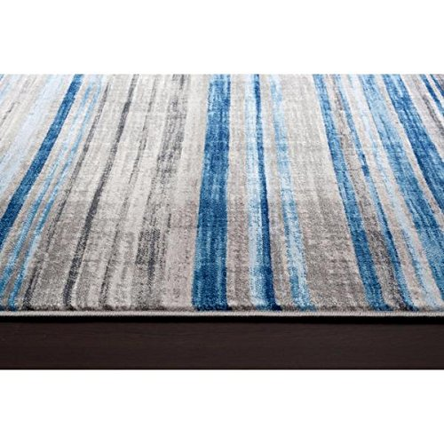 Persian Rugs Multi Colored Modern Accent Lines Area Rug (7