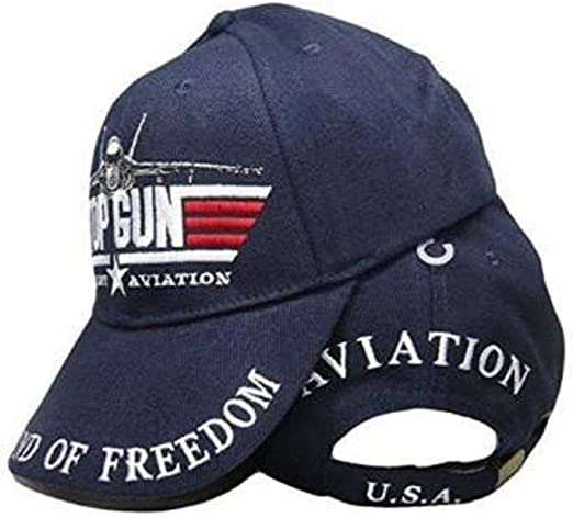 Top Gun Military Aviation The Sound of Freedom Blue Baseball Hat Cap Cotton//Poly