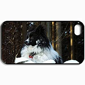 Customized Cellphone Case Back Cover For iPhone 4 4S, Protective Hardshell Case Personalized Everything Is Looking Good From Up Here Black
