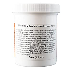MakingCosmetics – Vitamin C (sodium ascorbyl phosphate) – 3.2oz / 90g – Cosmetic Ingredient