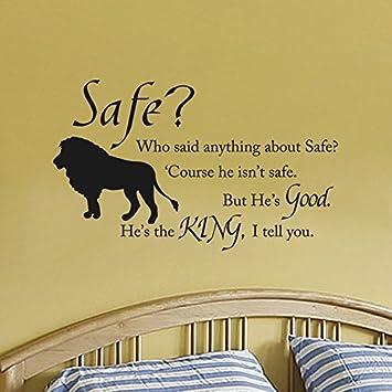 Amazon.com: Wall Decal Decor Chronicles of Narnia Aslan Safe Wall ...