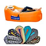 CHILLBO BAGGINS 2.0 Best Inflatable Lounger Hammock Air Sofa and Pool Float Ships Fast! IDEAL HOLIDAY GIFT Air Lounger for Indoor or Outdoor Hangout or Inflatable Lounge for Camping Picnics Festivals