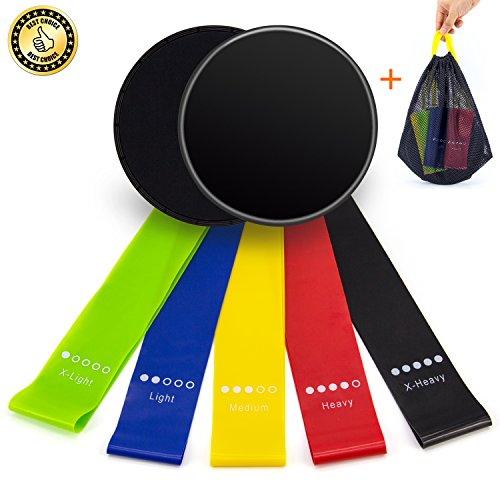 UJoylify Resistance Bands + Gliding Discs Core...