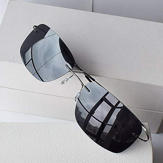 Riflesso Anti Rettangolo Uv400 Occhiali Montatura Sole Guida Senza Yxcchzs nbsp; L'uomo Polarizzati Per Che Ultra-leggeri Uomo nbsp;nero nbsp; Flessibili Da 10g