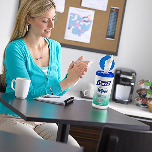 Hand and Face Sanitizing Wipes -3 Refreshing Scent And 3 Fragrance Free Canisters of 40 Count by Purell (Image #5)