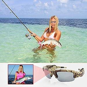 16GB 1280x720P HD Outdoor Hunting Camera Eyewear Camo Polarized Sunglasses Mini DV Camcorder Video Recorder