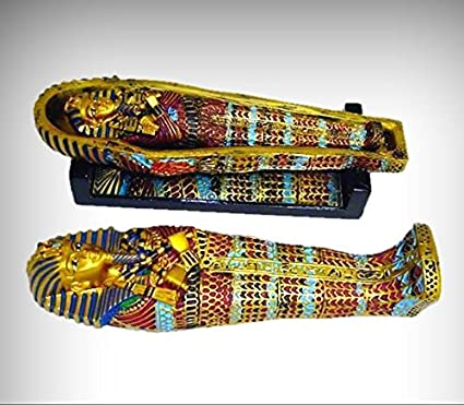 Amazon Com Royal Egyptian Golden Sarcophagus On Base With Mummy 1