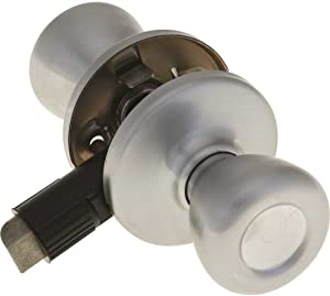 Kwikset Hall and Closet Doorknob Mobile Home Doors Only Chrome Satin