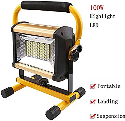 100W Portátil Foco Lámpara LED Proyector,Lámpara Camping,Luz para ...