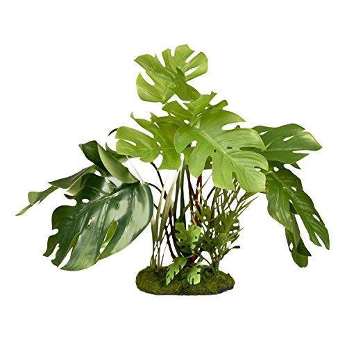 (Blue Ribbon PET Products 030157017699 Colorburst Florals Split Leaf Philodendron, Green)