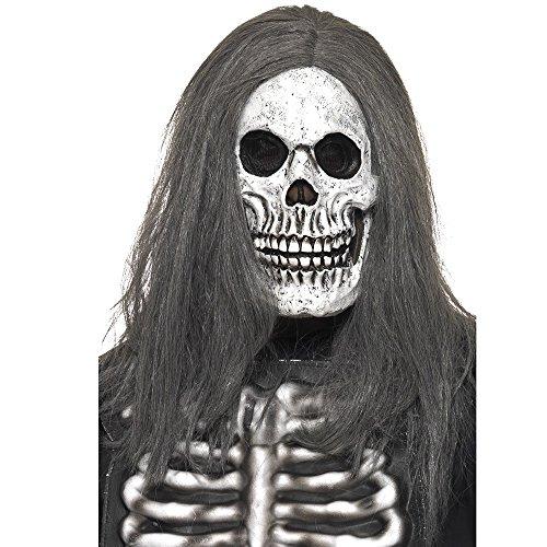 Smiffys Men's Sinister Skeleton Mask, Grey, One Size, -