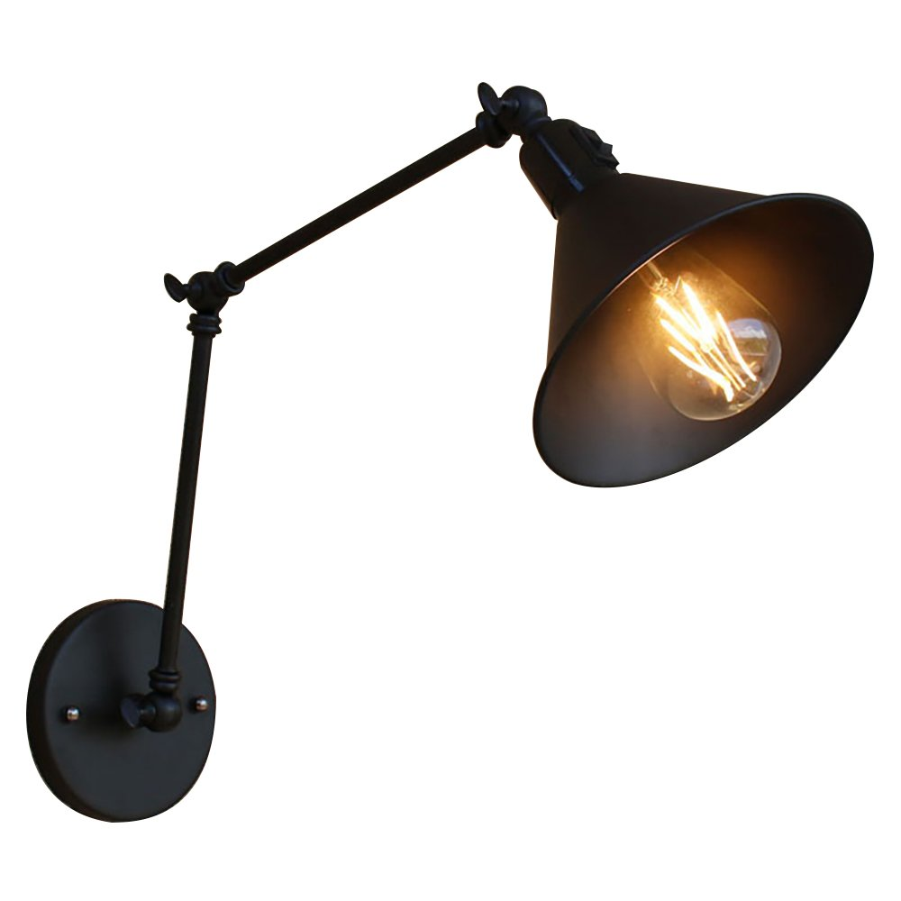 Black Adjustable Arm Wall Sconce