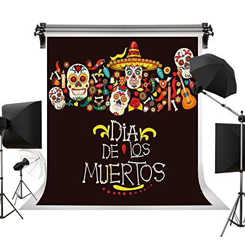 Kate 6.5x10ft/2x3m Mexican Day of The Dead Backdrops Sugar Skull Photography Background Dia de la Muertos Backdrops for Party Decoration