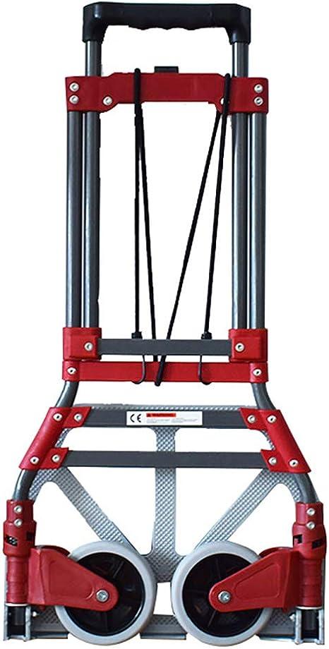 LSHUAIDJ Carretilla de Mano Plegable de Aluminio, Carretilla de Carretilla Multiusos Pesada, con Carrito portátil, Capacidad máxima de 150 kg: Amazon.es: Hogar