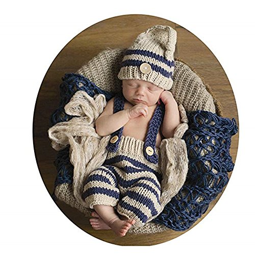 Lppgrace Newborn Baby Photography Props Boys Girls Outfits Crochet Knit Clothes