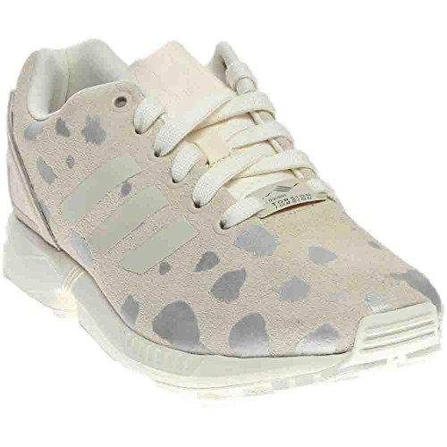adidas Originals Women's zx Flux w Fashion Sneaker, Off White/Legacy/Metallic Silver Solid, 6.5 M - Adidas Womens Zx