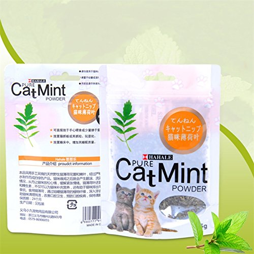 Cacys-Store - Natural Cat Mint Grass powder Catnip Cat snacks digestion Colorful bags Clean the mouth Quit hair ball - Colorful Catnip Sack