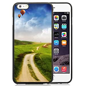 Fantasy Country Road End In Sky Hot Air Balloon Skyscape Silicone TPU iPhone 6plus 5.5 Inch Protective Phone Case