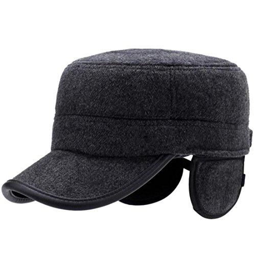 Hat Gorra proteger oído sombrero béisbol Otoño ZHAS de Middle el Casual Grey Hombre peludo Invierno Aged Sombrero wgwzSq47O