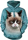 Grumpy Cat Hoodie Sweatshirt-L Blue