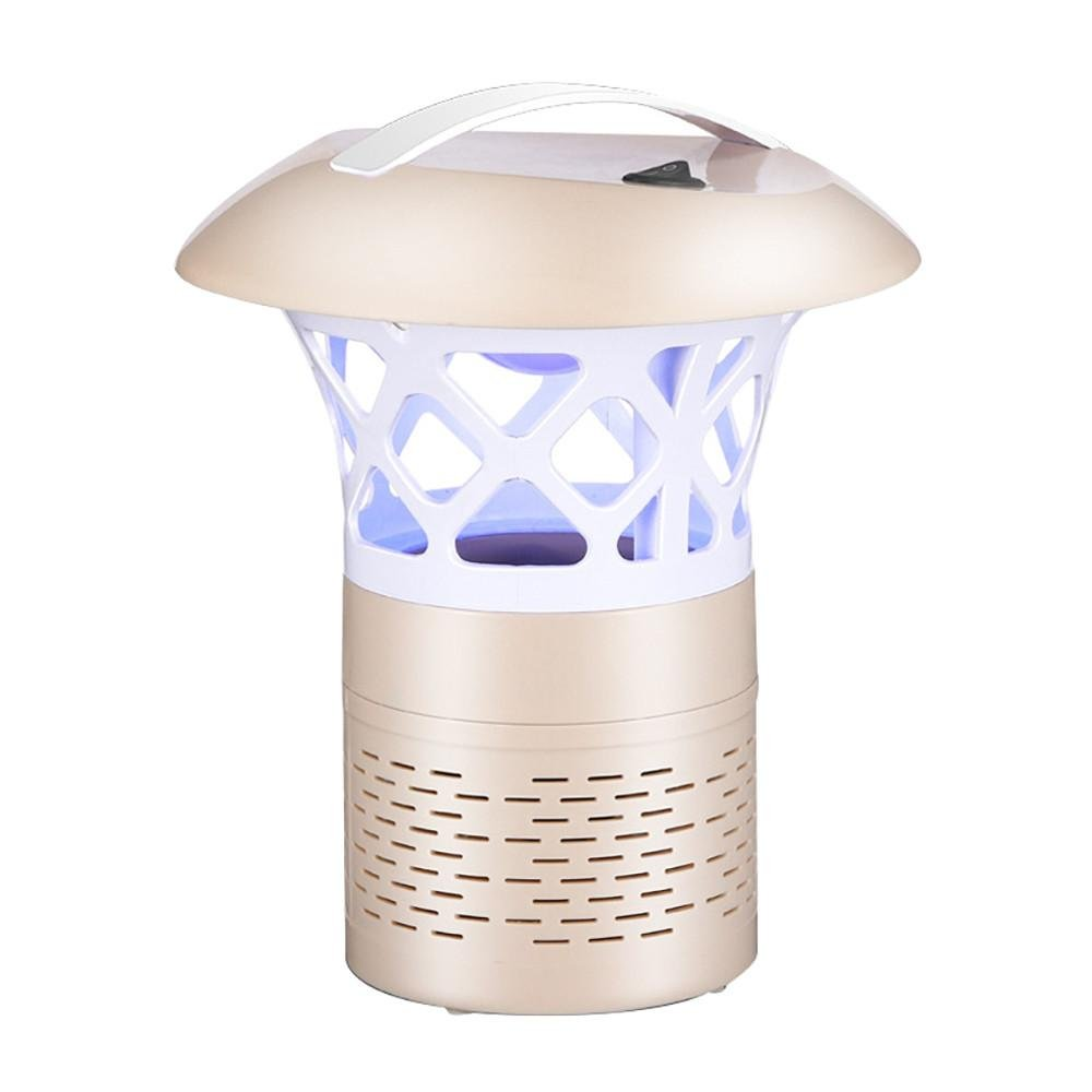 Mosquito Killer Light 5W USB Smart Optically Controlled Insect Killing Lamp (Gold)