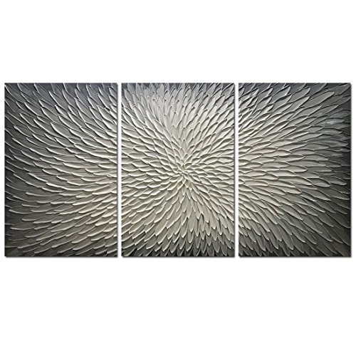 Amei Art Paintings,30x60Inch 3D Hand-Painted On Canvas Abstract Artwork Art Wood Inside Framed Hanging Wall Decoration Abstract Painting ()