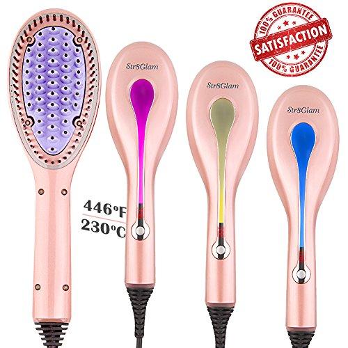 hair straightener str8glam 4 in 1 hair straightening brush for damp