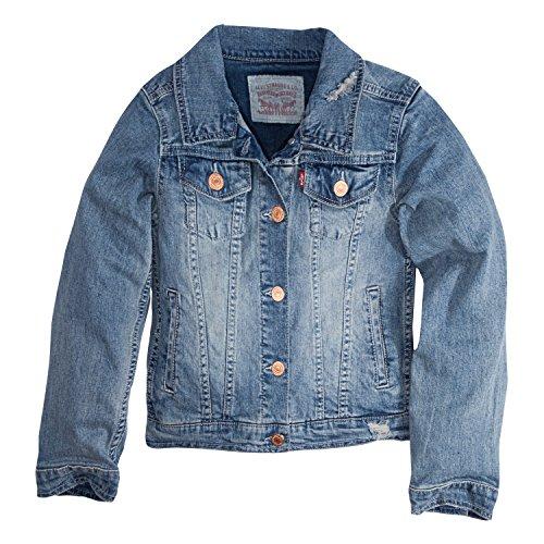 Levi's Girls' Denim Jacket,Weathered Indigo,XL