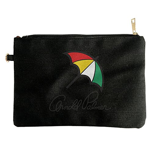 [American Professional Golfer Arnold Palmer Canvas Zipper Pouch Pencil Case, Make Up Bag, Cell Phone Bag, Travel Toiletry] (50s Make Up)