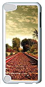 Fashion Customized Case for iPod Touch 5 Generation White Cool Plastic Case Back Cover for iPod Touch 5th with Train Track Kimberly Kurzendoerfer