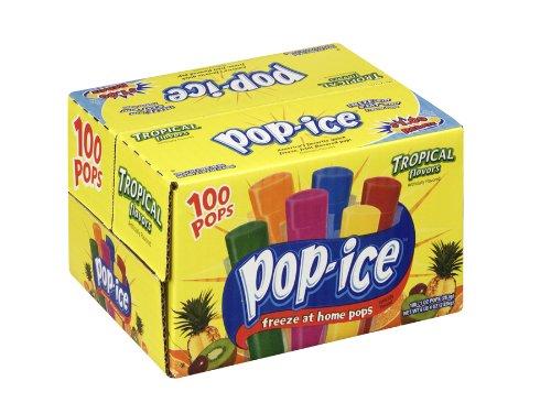 Pop-Ice 1oz Tropical Freezer Bars 100 Count -