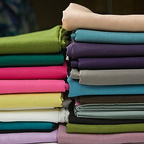 Seda maciza mezcla algodón forro tela para vestido, abrigo ...