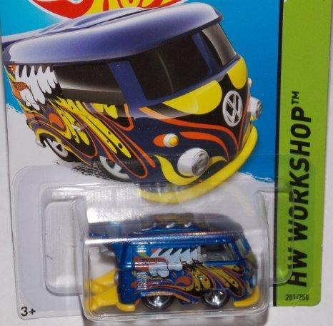 2014 Hot Wheels Blue Volkswagen Kool Kombi 201/250 HW WORKSH