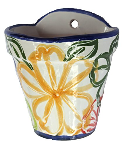 Cactus Canyon Ceramics Wall Flower Pot - Spanish Flor
