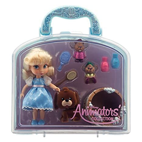 2dc5ba9badc Amazon.com  Disney Animators  Collection Cinderella Mini Doll Play Set - 5     Toys   Games