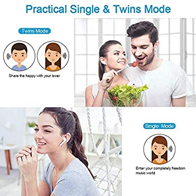 Bluetooth Earbuds Wireless headphones Sports Earphone/Stereo-headset Sweatproof Earphones with Noise Cancelling Compatible with iPhone X/8/8 plus/7/6, Samsung S9/S8/S7 Note 8/7 Android