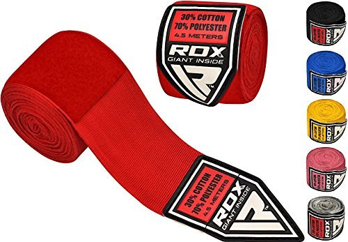 Authentic RDX Pro Hand Wraps Bandages Red Boxing Gloves, MMA UFC
