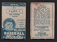 1938 Goudey baseball movies (Baseball) Card# 2 joe vosmik of the Boston Red Sox VG Condition