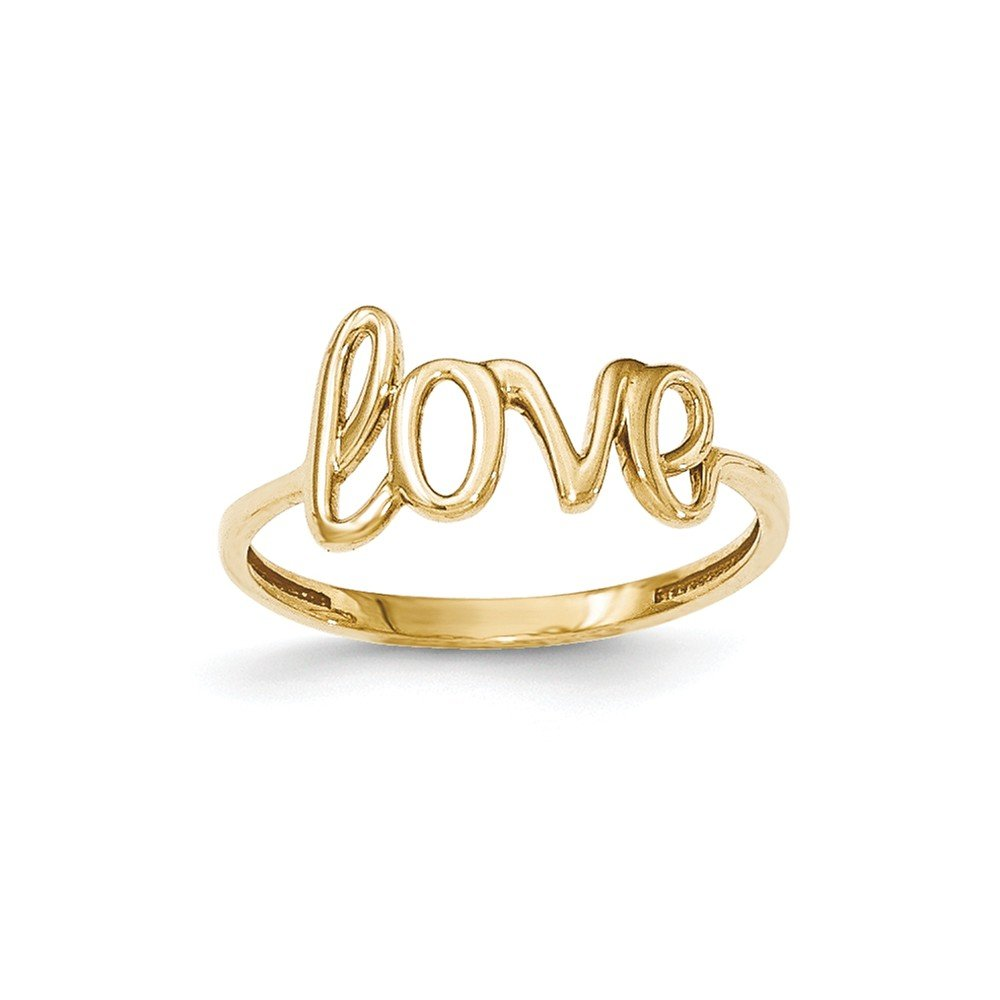 14k Yellow Gold Love Ring Size 7