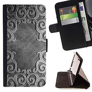 BullDog Case - FOR/Samsung ALPHA G850 / - / Ancient Pattern /- Monedero de cuero de la PU Llevar cubierta de la caja con el ID Credit Card Slots Flip funda de cuer