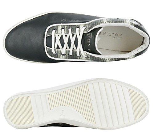Puma amqdek lo II Print Alexander McQueen 354887–01Scarpe da ginnastica da uomo in pelle Nero (Nero-bianco)