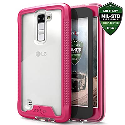 LG K10 Case, Zizo [ION Series] with FREE [LG K10 Screen Protector] Transparent Clear [Military Grade Drop Tested] for LG K10 Premier LTE