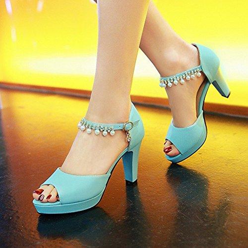 Flop estivi BAJIAN toe Flip di Ladies LI basse heelsWomen sandali Peep Alta sandali scarpe scarpe nqpwFxCq