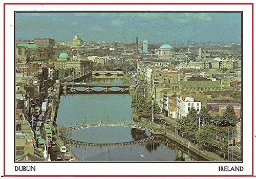 DishyKooker Decoration Gift Photo Magnets 78543mm,Ireland Dublin Postcard Magnets 20365 Rigid Plate Tourist Memories -