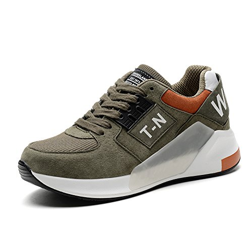 KONHILL Women's Lightweight Running Shoes Athletic Sports Shoes Tennis Sneakers Outdoor Exercise Shoes, Army Green, 39
