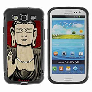 A-type Arte & diseño Anti-Slip Shockproof TPU Fundas Cover Cubre Case para Samsung Galaxy S3 III / i9300 / i717 ( Thai Buddha Illustration )