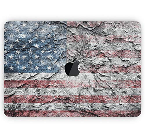 Aged and Wrinkled American Flag - Design Skinz Premium Full-Body Cover Wrap Gloss Finished Decal Skin-Kit for The MacBook Pro 15