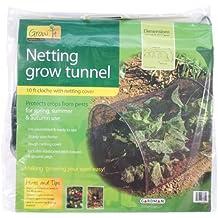 "Gardman 7682 Netting Grow Tunnel, Black Polyethylene, 10' Long x 18"" High"