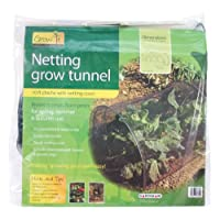 Gardman 7682 Netting Grow Tunnel, Black Polyethylene, 10' Long x 18